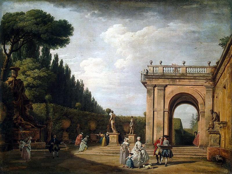 Верне, Клод Жозеф - Вид в парке виллы Людовизи в Риме. Эрмитаж ~ часть 3