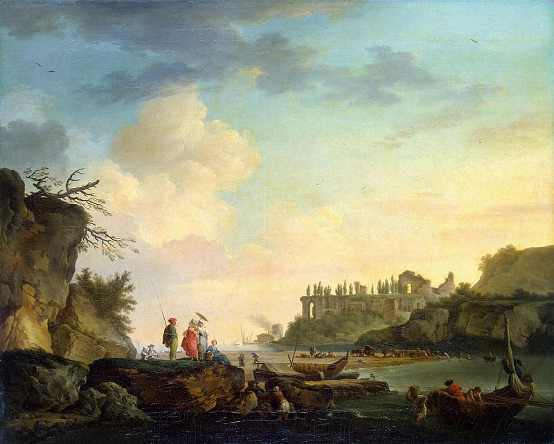 Vernet, Claude Joseph - Ruins at the mouth. Hermitage ~ part 03