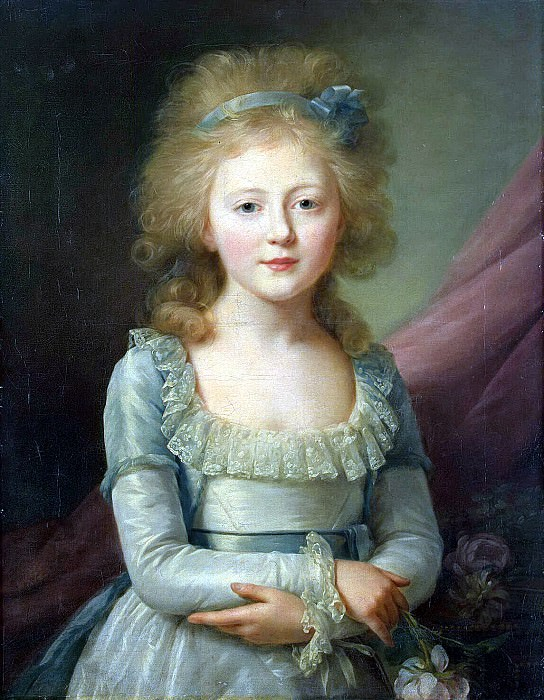 Veil, Jean Louis - Portrait of Grand Duchess Elena Pavlovna in childhood. Hermitage ~ part 03