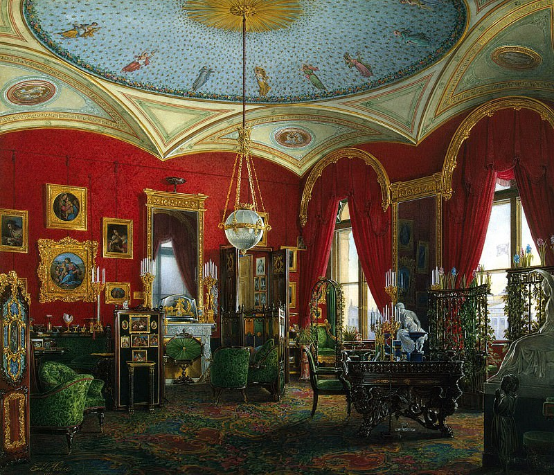 Hau Edward Petrovich - Types of rooms of the Winter Palace. Study of the Empress Alexandra Feodorovna (2). Hermitage ~ part 03