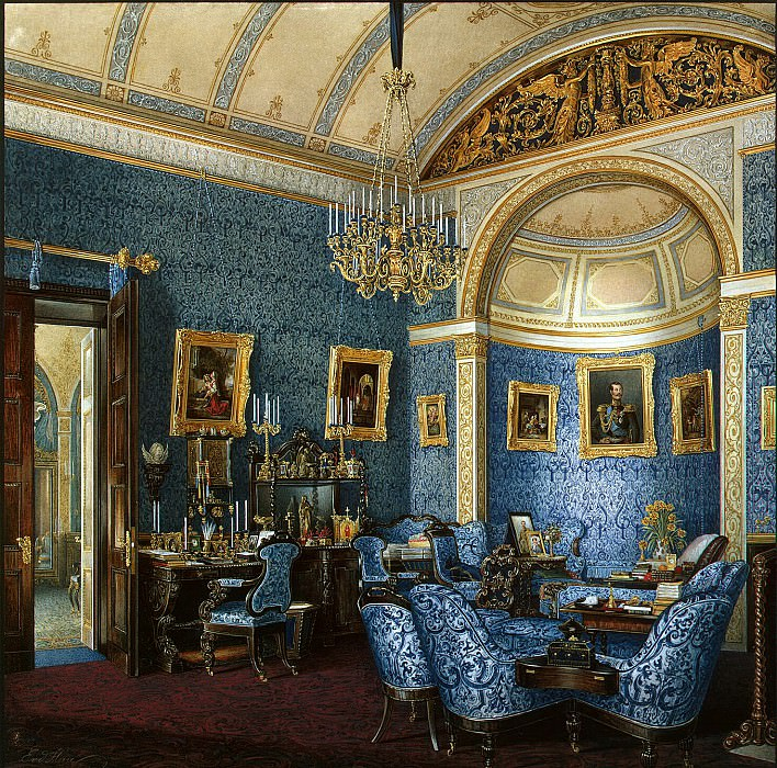 Hau Edward Petrovich - Types of rooms of the Winter Palace. Boudoir Grand Duchess Maria Alexandrovna. Hermitage ~ part 03
