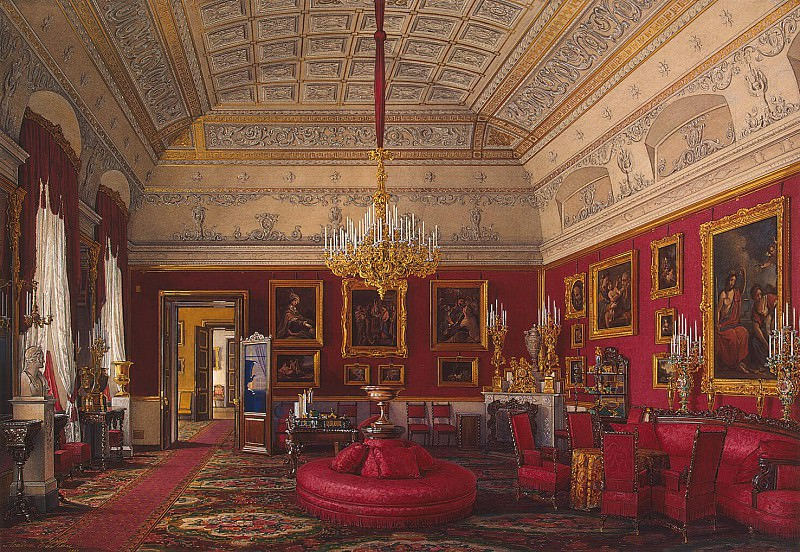 Hau Edward Petrovich - Types of rooms of the Winter Palace. The first half of the spare. Large cabinet led. book. Maria Nikolaevna. Hermitage ~ part 03