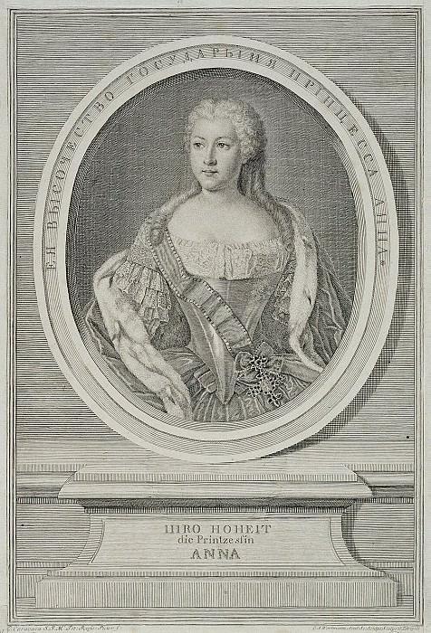 Wortman, Christian Albrecht - Portrait of Anna Leopoldovna. Hermitage ~ part 03