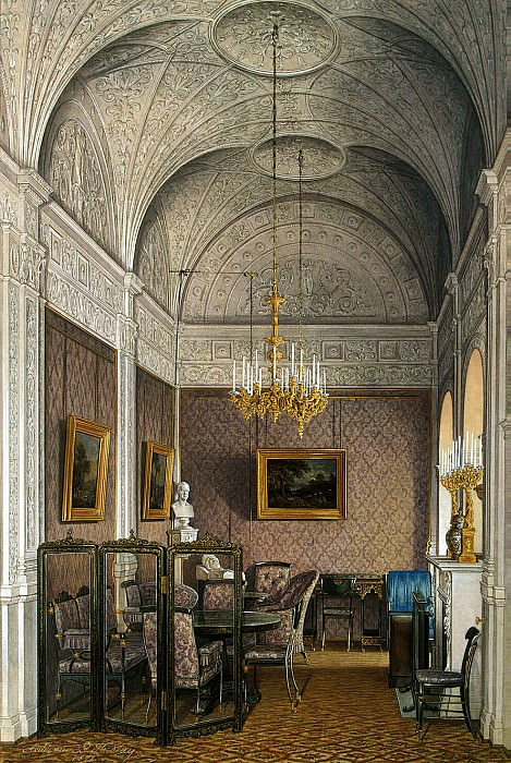 Hau Edward Petrovich - Types of rooms of the Winter Palace. Boudoir of Empress Alexandra Feodorovna. Hermitage ~ part 03
