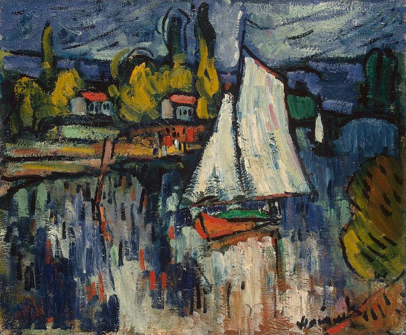Vlaminck, Maurice de - View of the Seine. Hermitage ~ part 03