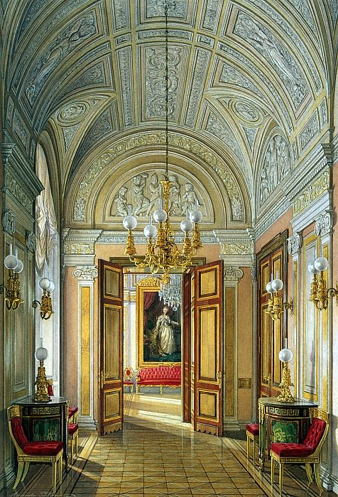 Hau Edward Petrovich - Types halls of the Small Hermitage. Cabinet. Hermitage ~ part 03
