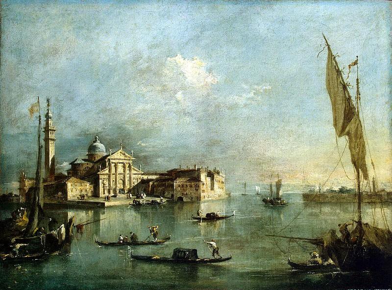 Guardi, Francesco - View of the island of San Giorgio Maggiore. Hermitage ~ part 03