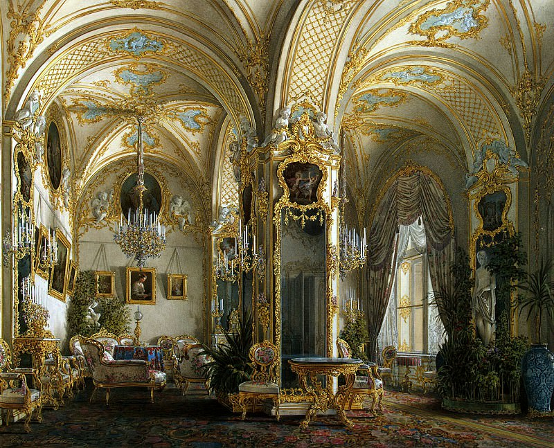Hau Edward Petrovich - Types of rooms of the Winter Palace. Living in the Second Rococo style. Hermitage ~ part 03