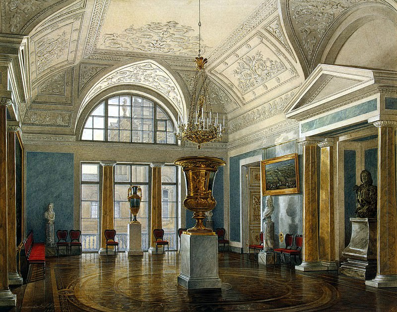 Hau Edward Petrovich - Types of rooms of the Winter Palace. Apollo Hall. Hermitage ~ part 03