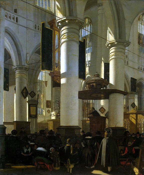 Witte, Emanuel de - Internal view of the church. Hermitage ~ part 03