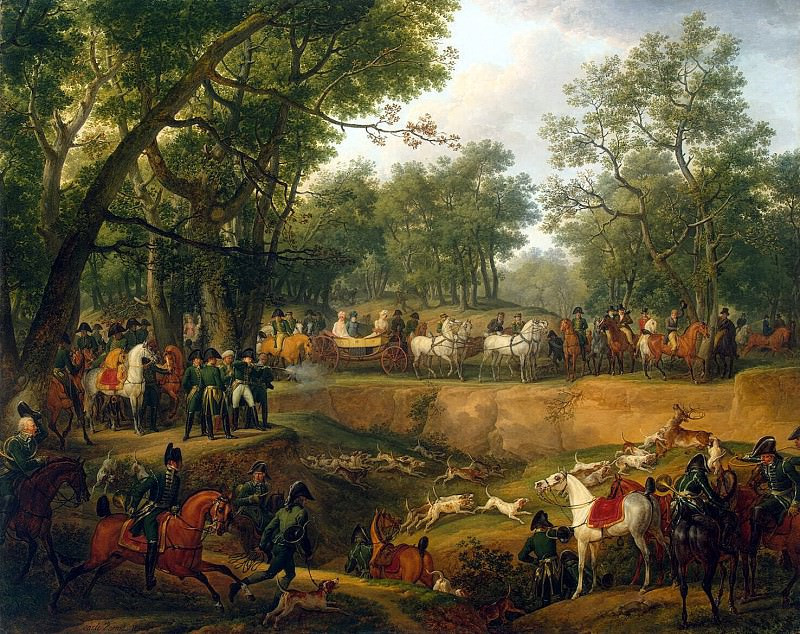 Vernet, Carl - Napoleon Hunting in Compiegne Forest. Hermitage ~ part 03