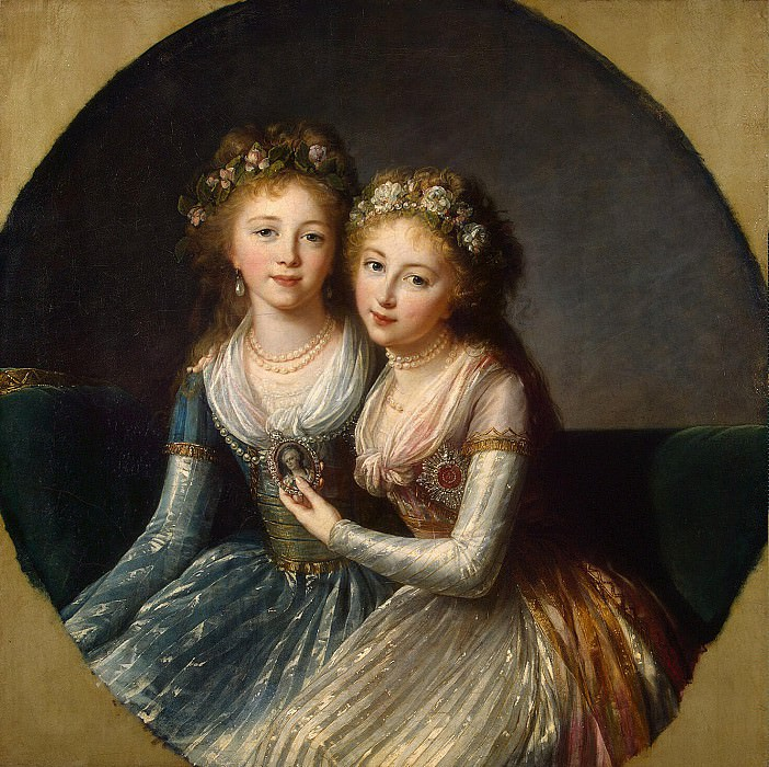 Vigee-Lebrun, Elisabeth-Louise - Portrait of the daughter of Emperor Paul I. Hermitage ~ part 03