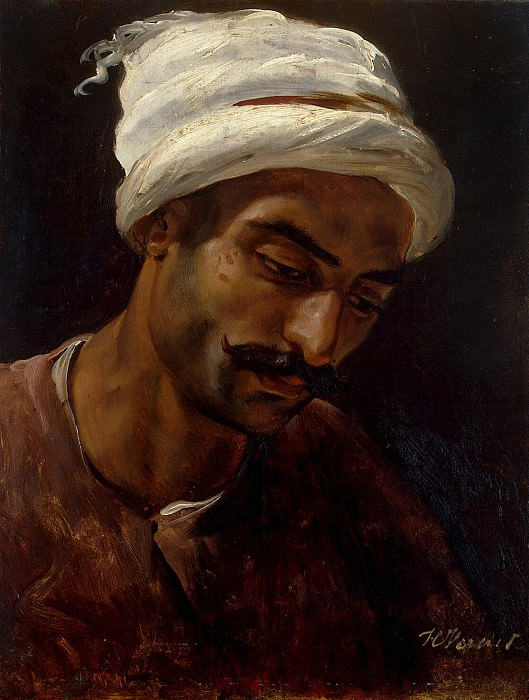 Vernet, Horace - The head of an Arab. Hermitage ~ part 03