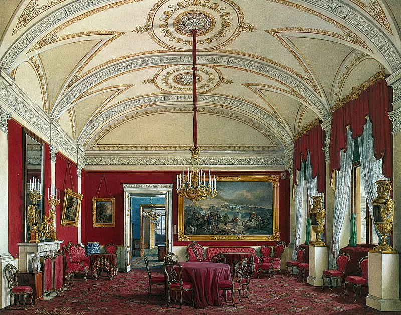 Hau Edward Petrovich - Types of rooms of the Winter Palace. The second half of the spare. Lounge. Hermitage ~ part 03