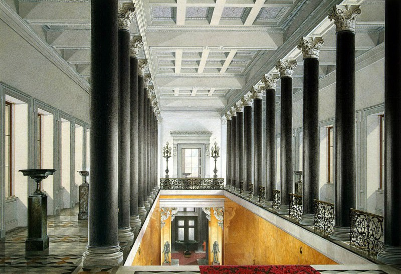 Hau Edward Petrovich - Types halls of the New Hermitage. Main staircase. Ground Floor II. Hermitage ~ part 03
