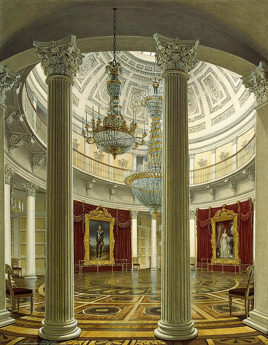 Hau Edward Petrovich - View of the Rotunda in the Winter Palace. Hermitage ~ part 03
