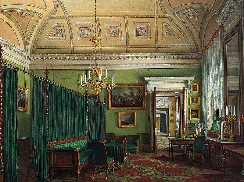 Hau Edward Petrovich - Types of rooms of the Winter Palace. The first half of the spare. The Cabinet of the Duke M. Leuchtenberg. Hermitage ~ part 03