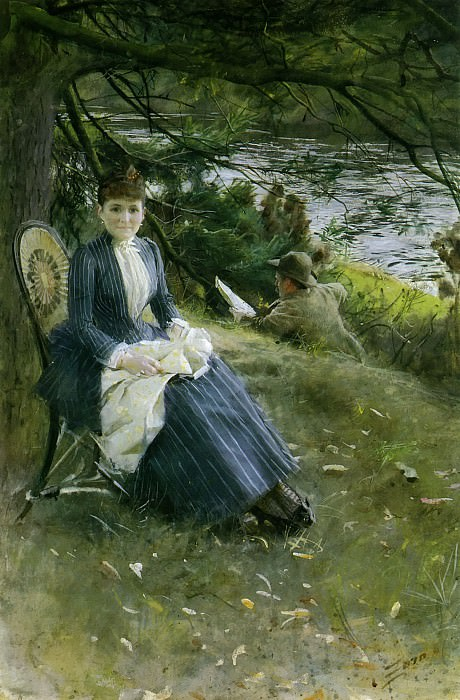 In Scotland (Mrs. Symons). Anders Zorn