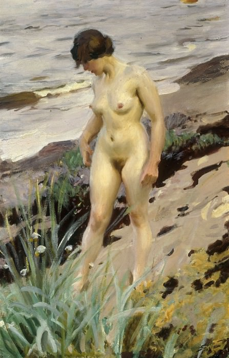 Stroll along the sandy shore. Anders Zorn