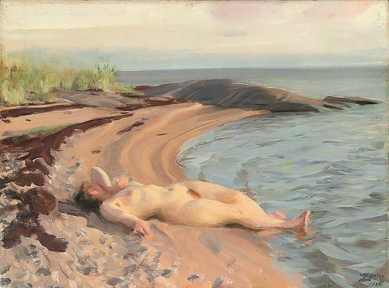 On the beach. Anders Zorn