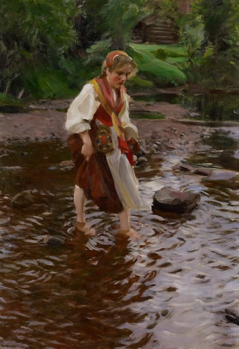 Girl from Alvdalen. Anders Zorn