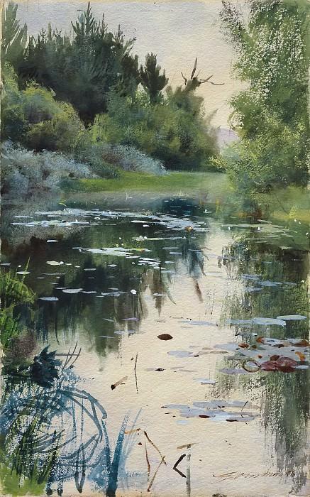 Landskap studie av Mora. Anders Zorn