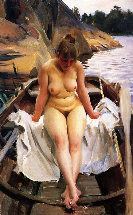 In Werners Rowing Boat. Anders Zorn