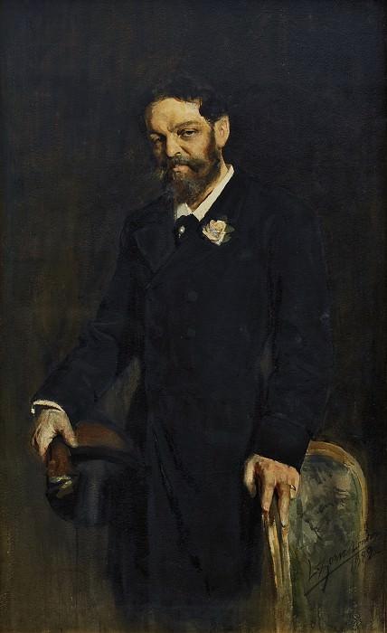 Porträtt föreställande Albert Stenbock. Anders Zorn