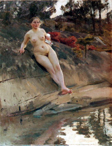Sunbathing girl. Anders Zorn