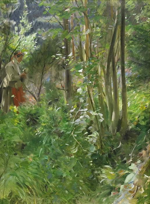 Солнечный день в лесу. Андерс Цорн