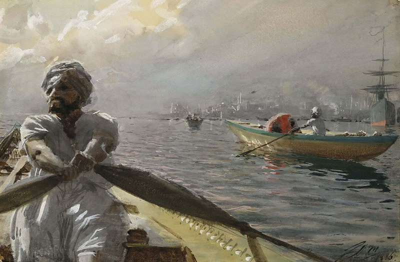 Turkish Boatman in the Constantinople Harbour. Anders Zorn