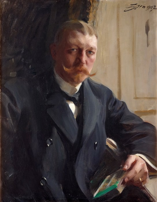 Portrait of Zorn s friend the German-born industrialists Franz Heiss. Anders Zorn