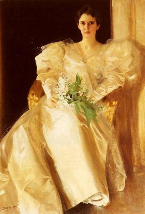 Portrait Of Mrs Eben Richards. Anders Zorn