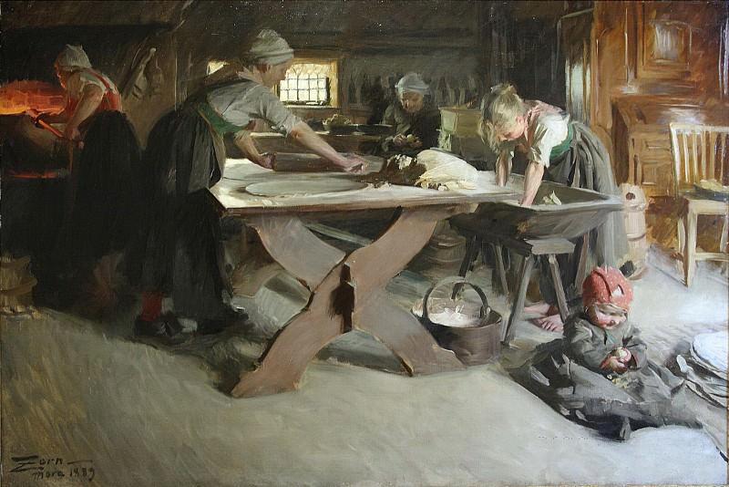Baking bread. Anders Zorn
