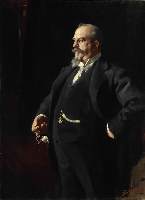 Portrait of Adolphus Busch. Anders Zorn