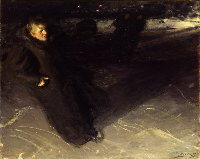 The Ice Skater. Anders Zorn