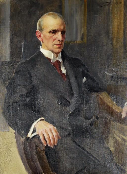 Porträtt föreställande Eric Frisell. Anders Zorn