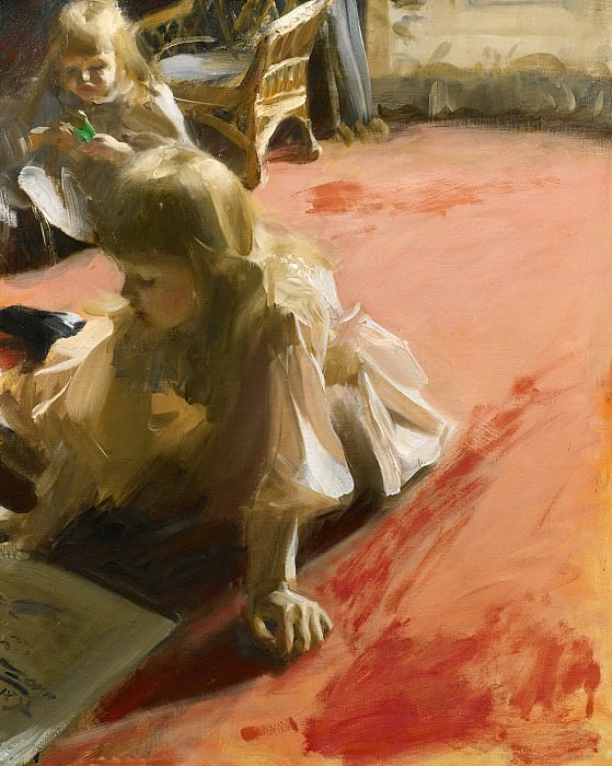 A Portrait Of The Daughters Of Ramon Subercasseaux. Anders Zorn