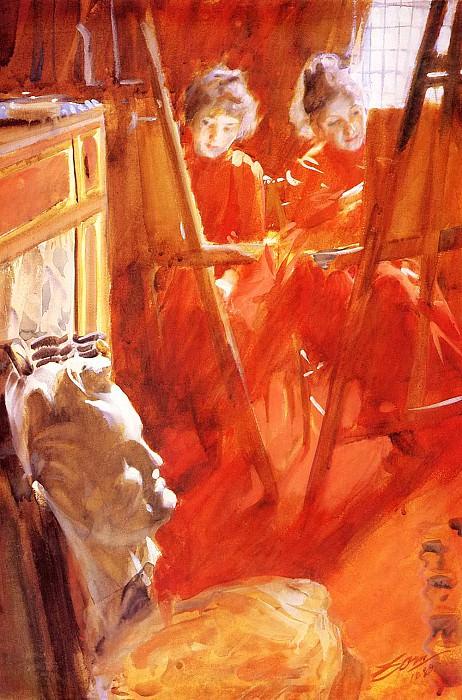 Les Demoiselles Schwartz. Anders Zorn