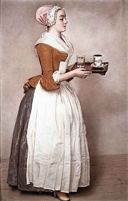 LIOTARD Etienne The Chocalate Girl. Swiss artists