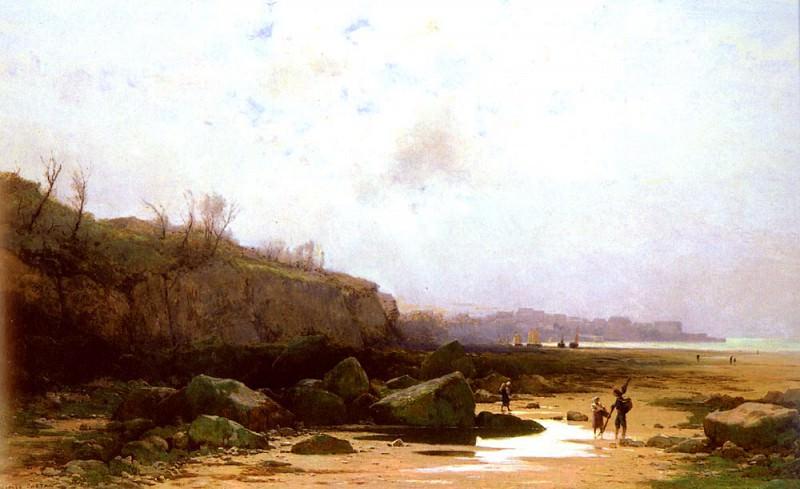 Castan Gustave Pecheurs A Douarnenez. Swiss artists