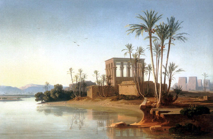 The Ruins at Philae Egypt. Swiss artists