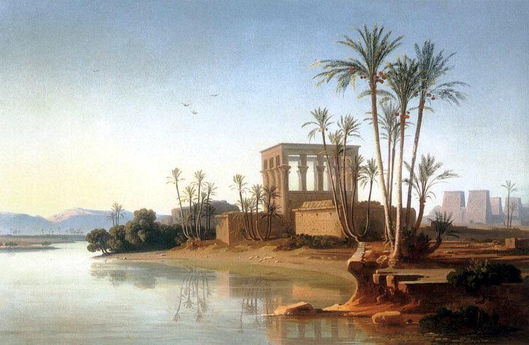 The Ruins at Philae Egypt. Швейцарские художники