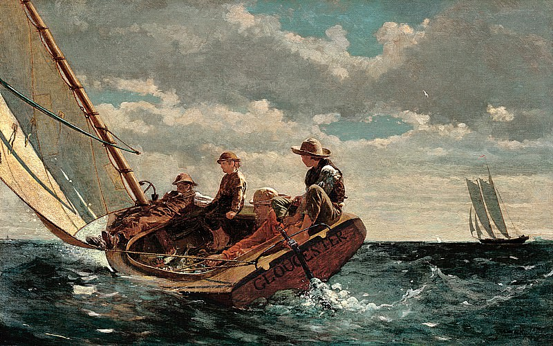 Winslow Homer (1836-1910) - Breezing Up (A Fair Wind) (1873-76 National Gallery of Art). part 2 American painters