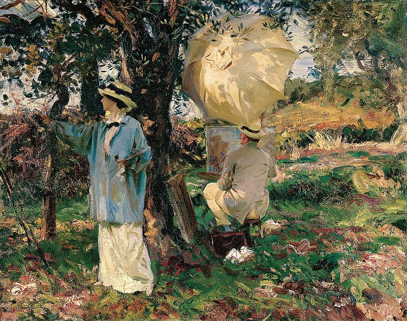John Singer Sargent (1856-1925) - The Sketchers (ca. 1913 Virginia Museum of Fine Arts). part 2 American painters