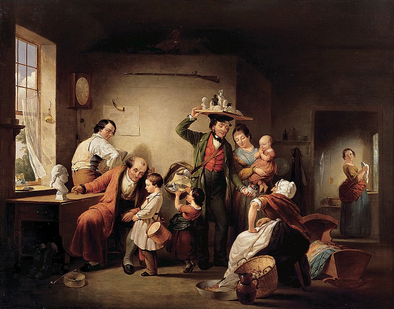 Francis William Edmonds (1806-1863) - The Image Pedlar (ca. 1844 Collection of The New-York Historical Society). part 2 American painters