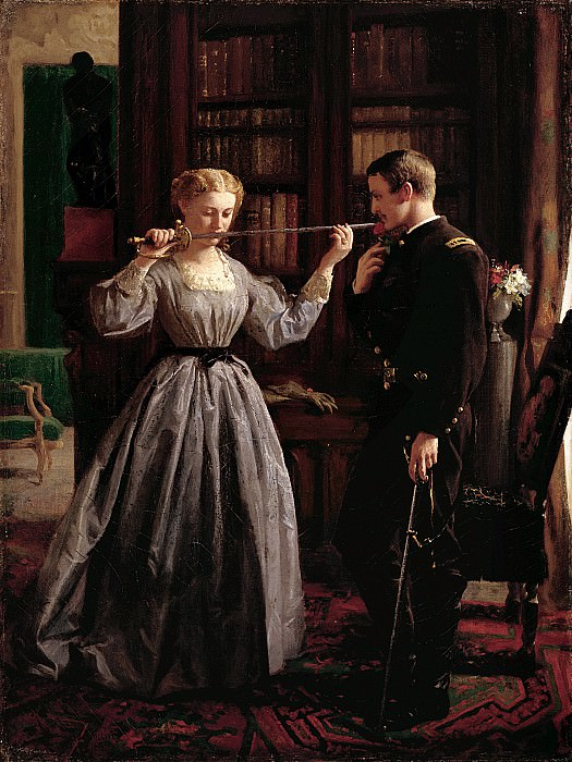 George Cochran Lambdin (1830-1896) - The Consecration, 1861 (1865 Indianapolis Museum of Art). part 2 American painters