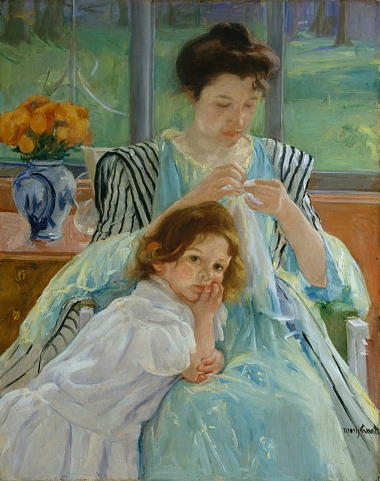 Mary Cassatt (1844-1926) - Young Mother Sewing (1900 The Metropolitan Museum of Art). part 2 American painters