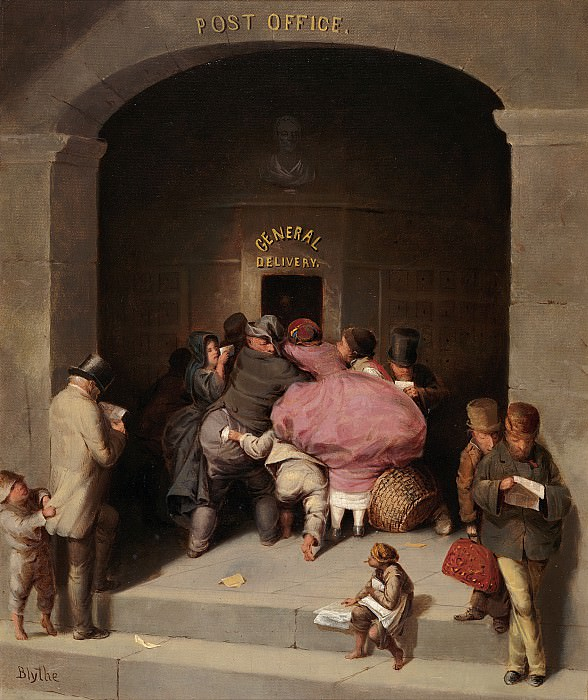 David Gilmour Blythe (1815-1865) - Post Office (ca. 1859-63 Carnegie Museum of Art). part 2 American painters