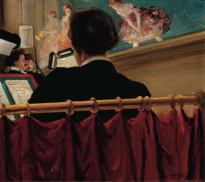 Everett Shinn (1876-1953) - The Orchestra Pit, Old Proctors Fifth Avenue Theatre (1906-7 Yale University Art Gallery). part 2 American painters